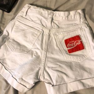 Vintage anchor blue Coca Cola shorts